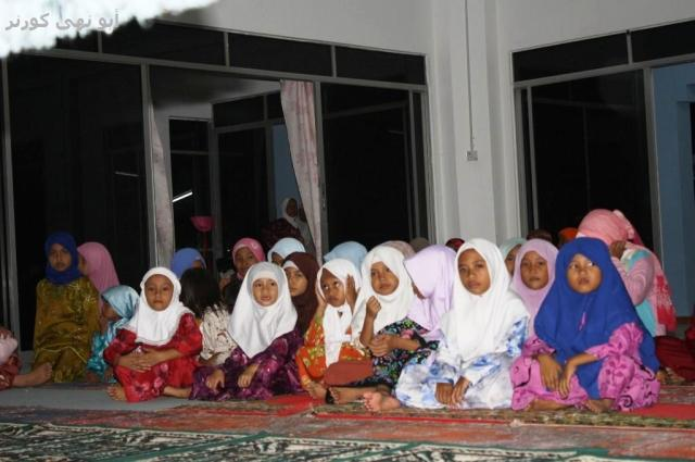 Anak-anak damit turut hadir mencengar ceramah